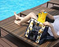 Летняя сумочка для пляжа прорезиненная