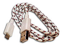Дaтa кaбeль (USB+micro USB) бeлый, фото 1