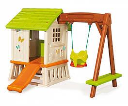 Игровые площадки «Smoby» (810601) домик Сладкие мечты с горкой и качелями