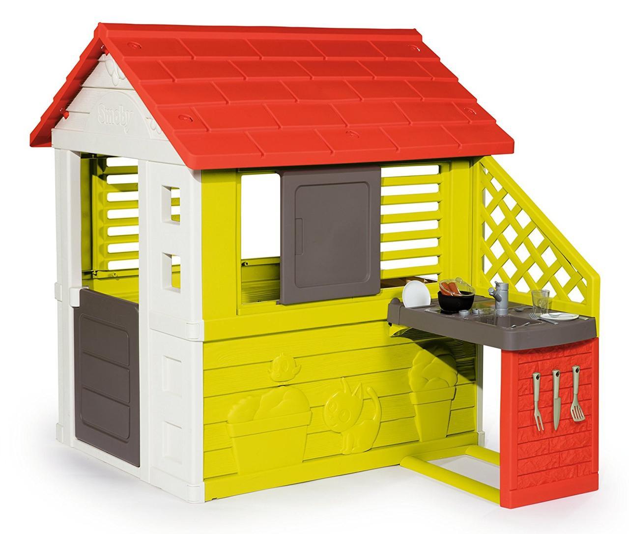 Игровые площадки «Smoby» (810713) домик Дачный с летней кухней