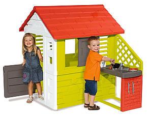 Игровые площадки «Smoby» (810713) домик Дачный с летней кухней, фото 3