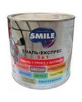 Smile Эмаль молотковый эффект Черная 2.2кг
