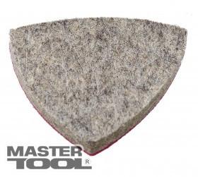 MASTERTOOL  Насадка треугольная войлочная тонкошерстная на липучке для реноватора 75 мм, 10 шт, Арт.: 08-6497