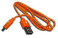 Дaтa кaбeль (USB+micro USB) орaнжeвый, фото 1