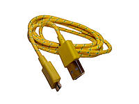 Дaтa кaбeль (USB+micro USB) жeлтый