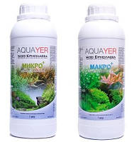 Набор удобрений AQUAYER Микро + Макро 1л, для аквариумных растений