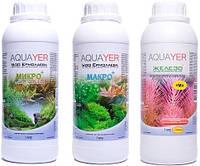 Набор удобрений AQUAYER Микро + Макро +Железо 1 л, для аквариумных растений