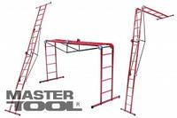 MASTERTOOL  Лестница трансформер металлическая 4 х 4 ступени, 1310-2200-4800 мм