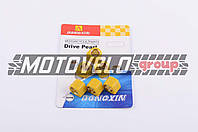 "Ролики вариатора (тюнинг) Suzuki 17*12 11,0г (желтые) ""DONGXIN"""