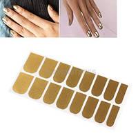 Стикеры для ногтей золотистые Gold Nail Art Decal Sticker