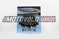 """Ниппель колеса (стайлинговый, прямой) (резиновый, черный) """"BUICK"""""""