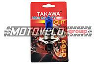 """Лампа H4 (авто) 12V 35W/35W (ультра белая) (блистер) """"TAKAWA"""""""