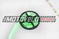 Лента светодиодная SMD 3528 (зеленая, влагостойкая, 60 крист/1м, бухта 5м)
