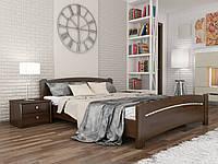 Кровать деревянная Венеция Эстелла 80×200 Буковый щит 101 - Орех темный