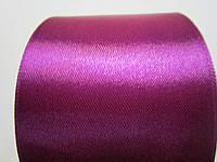 Лента атлас 5 см Сливовая, фото 1