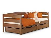 Кровать подростковая деревянная Нота плюс Эстелла 80×200 Буковый щит 101 - Орех темный