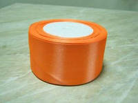 Лента атлас 5 см Оранжевая (морковная)