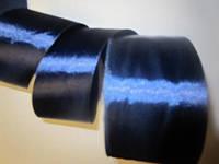 Лента атлас 5 см Тёмно-синяя