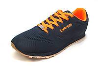 Кроссовки мужские  SUPO ENERGY текстиль, сине-оранжевые (супо) (р.42,43)