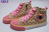 Детская обувь оптом. Детские высокие кеды бренда СВТ.Т для девочек (рр с 31 по 37)