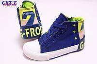 Детская обувь оптом. Детские высокие кеды бренда СВТ.Т для мальчиков (рр с 25 по 30)