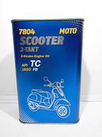 Масло для двухтактный двигателей Mannol Scooter 2-Takt TC 1л синтетика