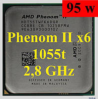 Процессор AMD Phenom II X6 1055T, 2.8GHz,sAM3,Tray (HDT55TWFK6DGR ) 1045 1065  1075