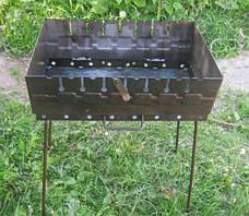 Мангал разборной для отдыха 2 мм ,Украина   8 шампуров