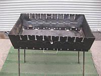 Мангал разборной для отдыха 2 мм ,Украина   10 шампуров