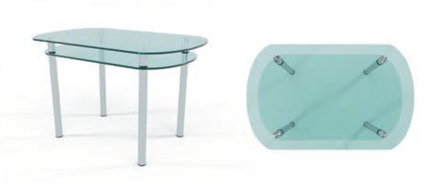 стіл скяний КТ 03