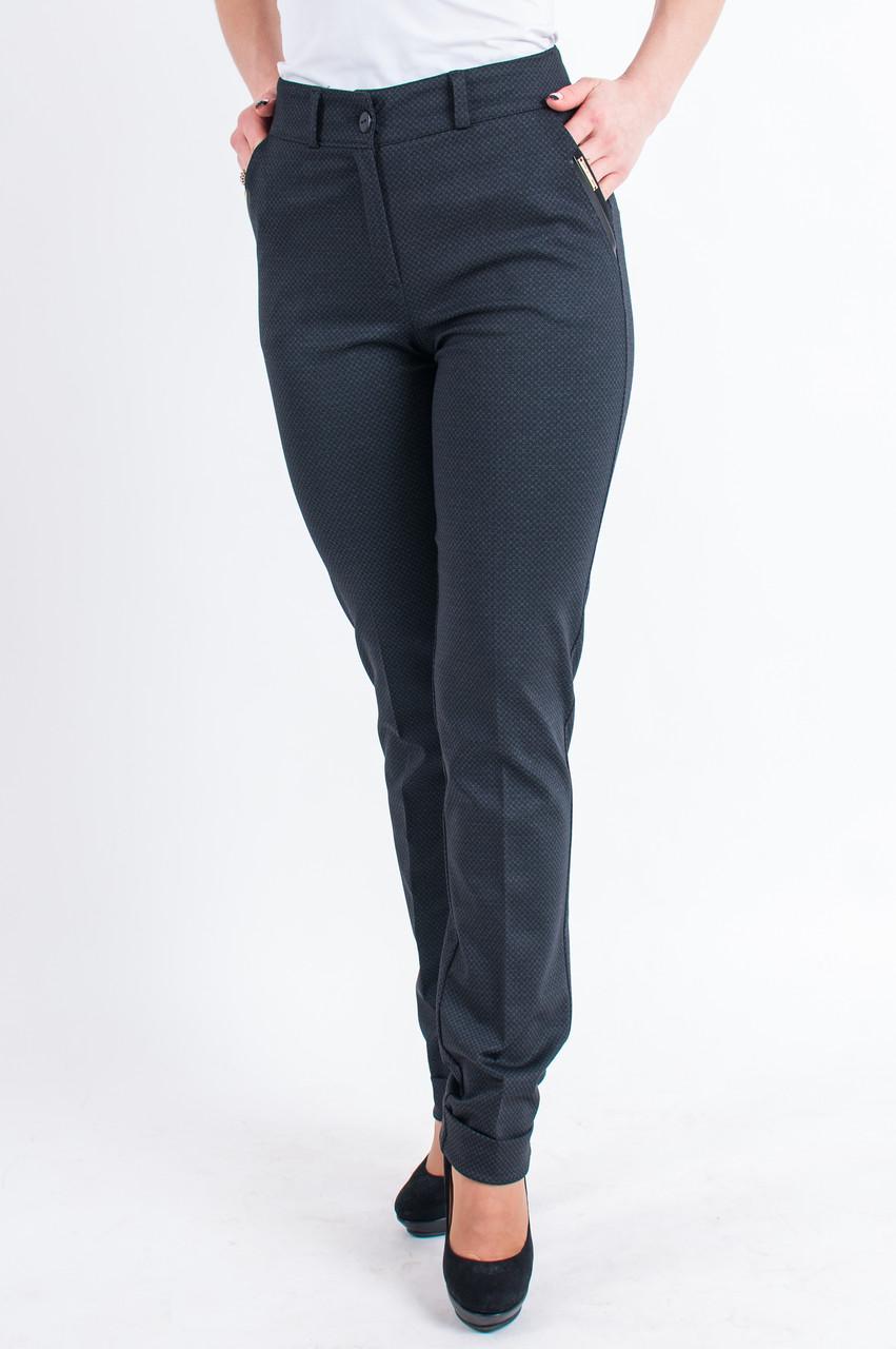 Женские трикотажные брюки с манжетами, Рима черного цвета