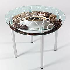 Стол стеклянный круглый КТ 06