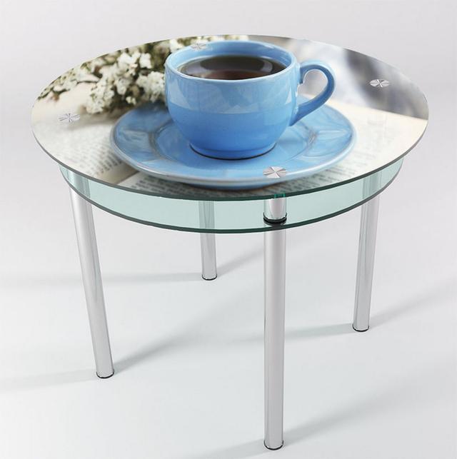 скляний круглий стіл