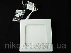 Светильник точечный Slim LED 9W квадрат холодный белый