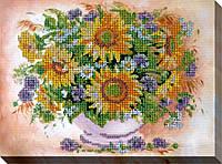 """Набор для вышивки бисером """"Подсолнухи с цветами"""""""