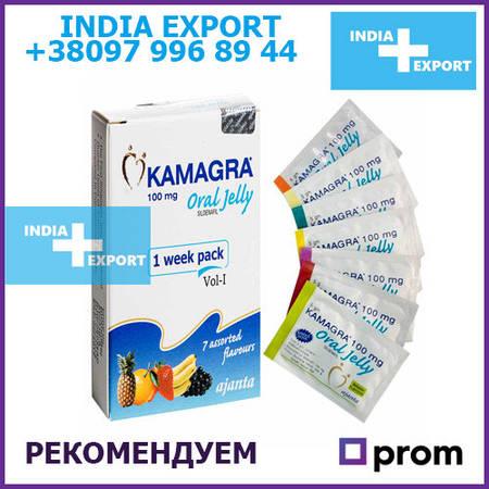 Kamagra Oral Jelly | Силденафил | 1 шт | Сладкая Виагра Желе Гель
