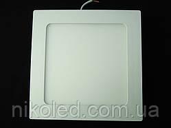 Светильник точечный Slim LED 12W квадрат  нейтральный белый