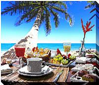 """Набор для вышивки бисером """"Завтрак на пляже"""""""