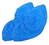 Бахилы п/е, синие (упаковка 50 пар)