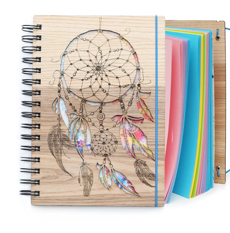 """Блокнот скетчбук """"Ловец радужных снов"""" с цветным внутренним блоком, фото 1"""