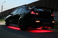 Подсветка днища авто—красаная! Водозащитная!