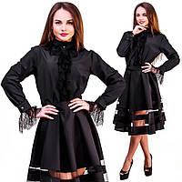 Жіноча блуза з вставками дорогого кружева