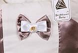 """Летний конверт для новорожденных на выписку """"Аристократ"""", шоколад, фото 2"""