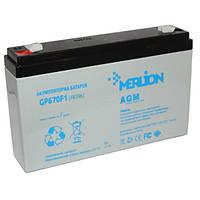 Аккумулятор MERLION GP670F1 6V 7Ah, мультигелевый (AGM) для ИБП