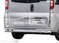 Защита заднего бампера на Renault Trafic (на пластинах)