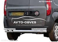 Защита заднего бампера на Opel Combo 2012-… (на пластинах)