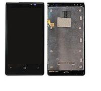 Дисплей (LCD) Nokia 920 Lumia с сенсором черный оригинал+ рамка