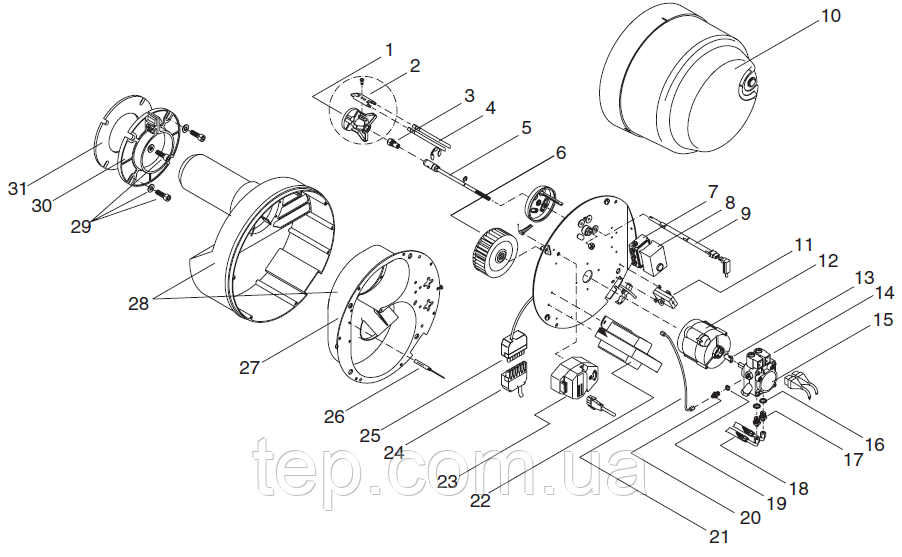 Giersch R20 Шток форсунки с подогревателем топлива и кабелем