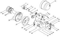 Giersch R20 Підпірний диск з утримувачем і подвійними електродами для WLE