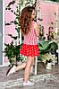 Веселое коротенькое платье сарафан с заниженой талией и юбкой воланом, фото 4